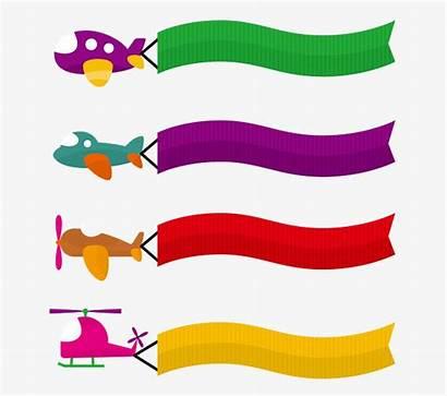 Banner Clipart Cartoon Airplane Vectors Aircraft Clipartmag
