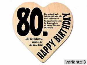 Besinnliches Zum 80 Geburtstag : geschenk zum 80 geburtstag herz holzschild mit wunschtext online geschenkeshop mit ~ Frokenaadalensverden.com Haus und Dekorationen