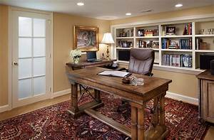 basement home office design and decorating tips With basement home office design ideas