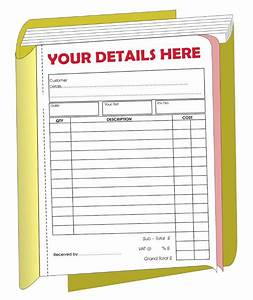 carbon invoice pads invoice template ideas With business invoice pads