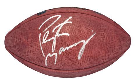 Lot Detail Peyton Manning Signed Wilson Super Bowl Xli