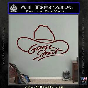 Car Wash Coloring Pages George Strait Decal Sticker Cowboy Hat A1 Decals