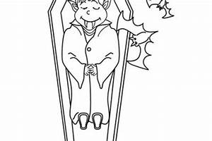 Dessin Halloween Vampire : coloriage de sorcieres d 39 halloween sorciere sur son balai ~ Carolinahurricanesstore.com Idées de Décoration