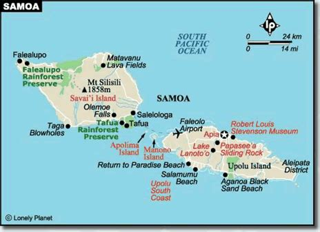 Samoa Map Location
