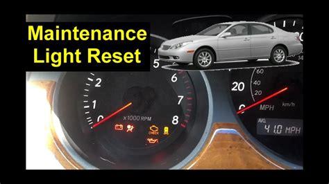 lexus maintenance light reset proceedures auto repair