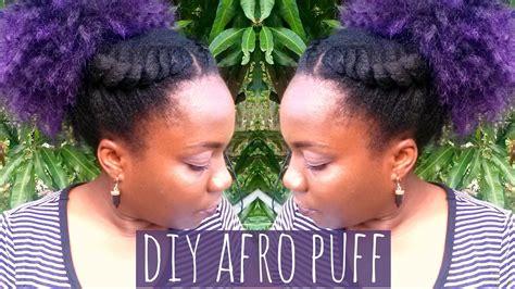 Diy Crotchet Braids Afro Puff Piece