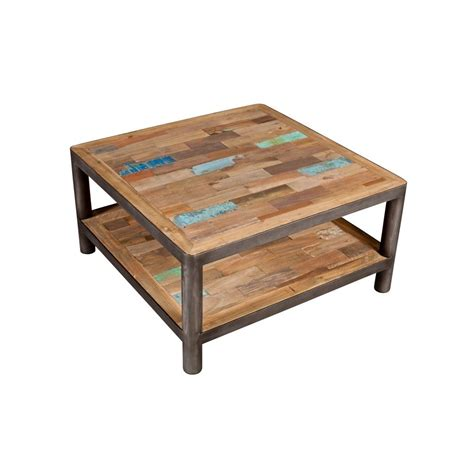 table basse carree design bois ezooq