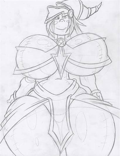 Magician Dark Sketch Yu Gi Oh Dollified