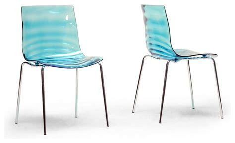 baxton studio marisse blue plastic modern dining chair