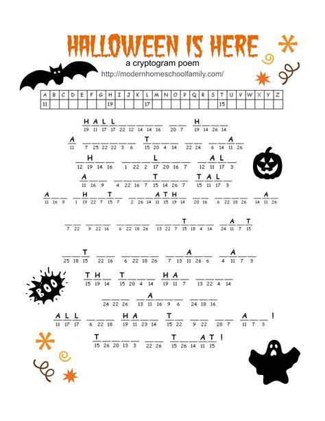 free printable halloween activity sheets for elementary grades modern homeschool family