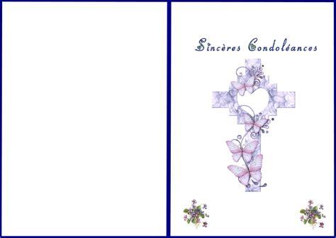 modèle carte de condoléances carte condol 233 ances 224 imprimer