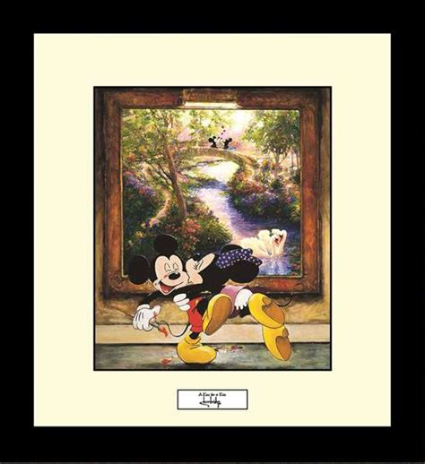 stephen shortridge  kiss   kiss disney framed print
