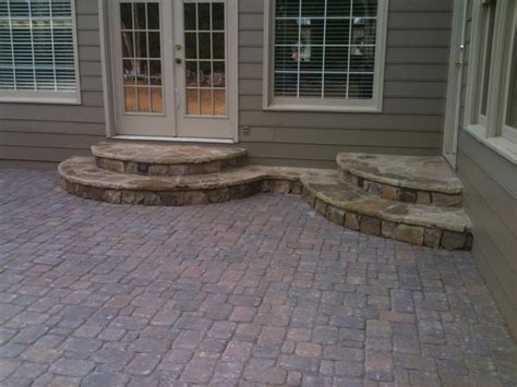 curved stone steps photo