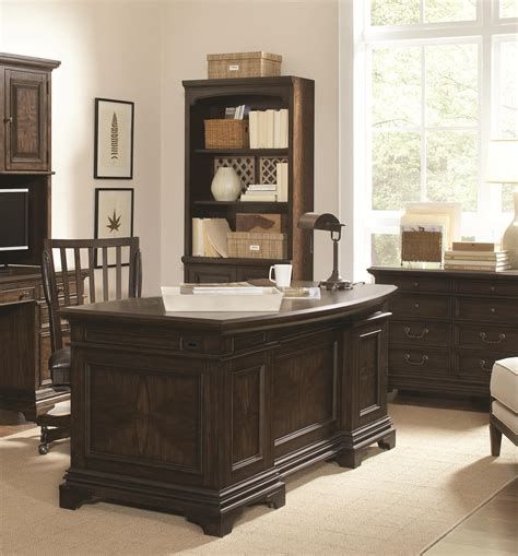 pictures of kitchens with brown cabinets curved executive desk with 7 drawers by aspenhome wolf 9116