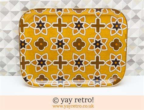 vintage mustard yellow tray buy yay retro handmade