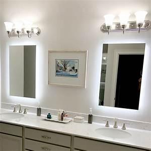 Side-lighted, Led, Bathroom, Vanity, Mirror, 24, U0026quot, X, 36, U0026quot