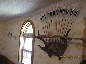 Hand Crafted Antler Bow Rack And Bow Stand by Mason