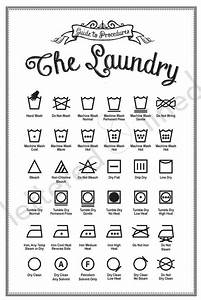 Laundry Symbols Poster - Print