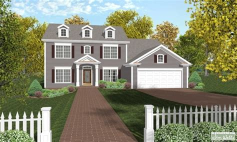 Small Luxury House Plans Colonial House Plans Designs, New