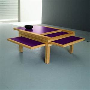 Expandable coffee tables by sculrtures jeux home design for Awesome expandable coffee table