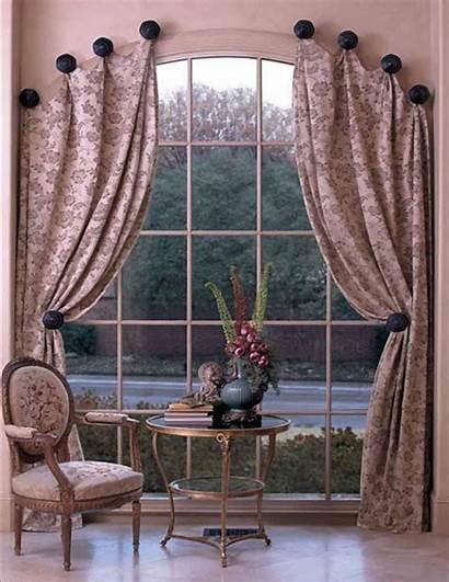 Drapery Arch Decorative Window Treatments Tiebacks Curtains