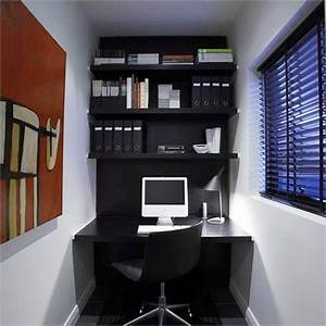 l shaped white stained wooden office desk built in drawer With small home office design ideas