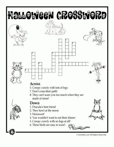 halloween word puzzles  images halloween words