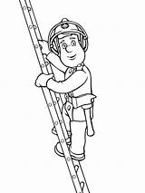 Ladder Sam Fireman Climbing Colouring Coloring Pages Coloringpage Colour Check Category sketch template