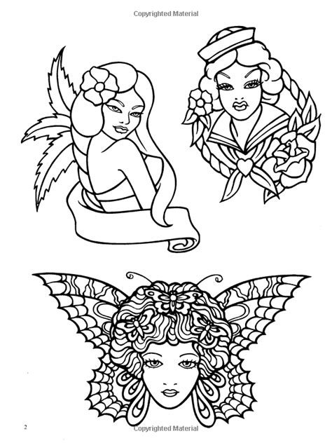 Classic Tattoo Designs: Coloring Book: Eric Gottesman