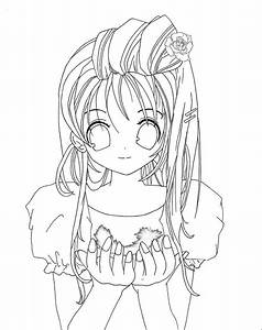 Cute Anime Face Girls Coloring Pages - Coloring Home