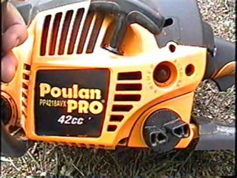 start  test run   poulan pro chainsaw model