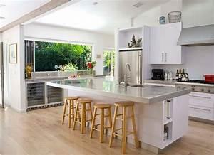 Ilot Central Pour Cuisine : cuisine americaine avec ilot deco maison moderne ~ Teatrodelosmanantiales.com Idées de Décoration