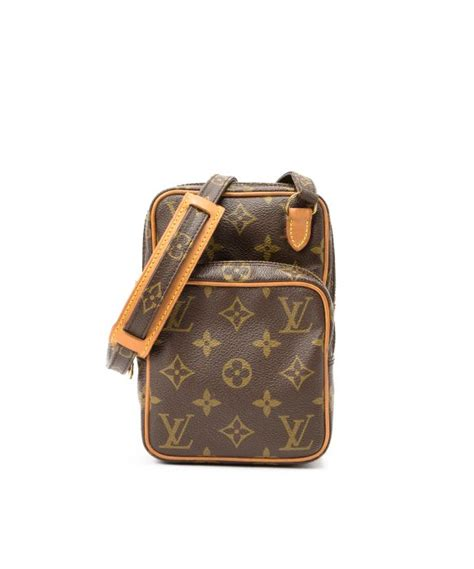 lyst louis vuitton mini amazon shoulder bag  brown