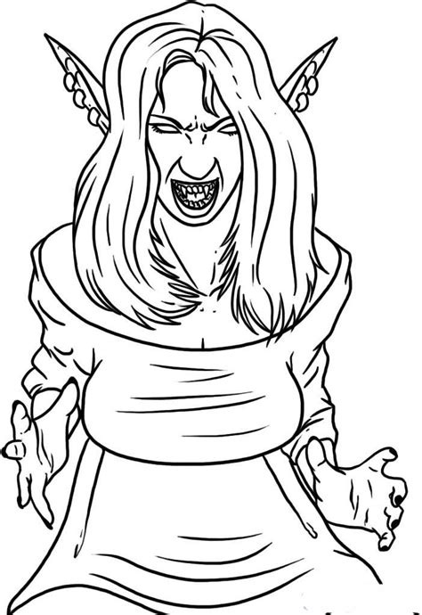 vampire girl coloring pages  printable cartoon coloring pages