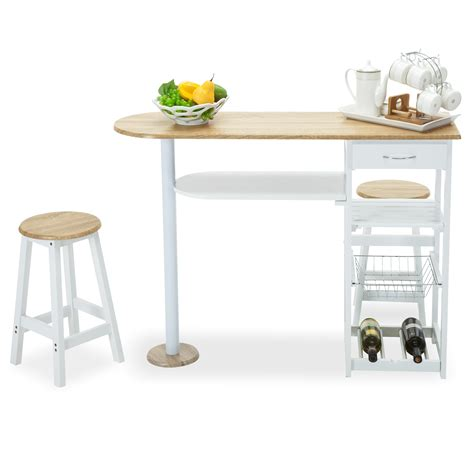 kitchen cart dining table oak white kitchen island cart trolley dining table storage