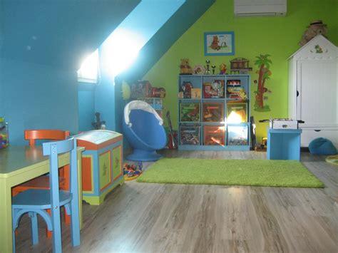 chambre enfant bleu et vert chambre verte et bleu