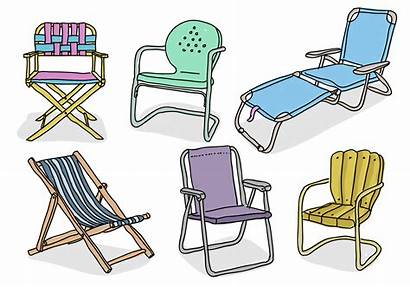 Chair Lawn Vector Hand Drawn Illustration Clipart