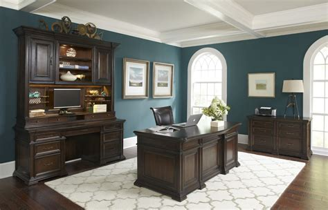 traditional grand classic executive computer desk