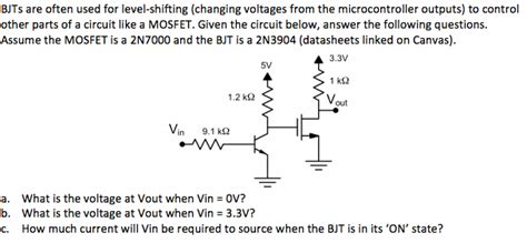 Solved Bjts Are Often Used For Level Shifting Changing