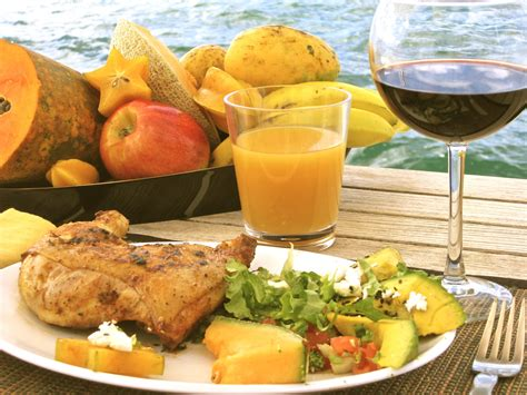 gourmet cuisine gourmet food on rocketeer caribbean sailing vacations