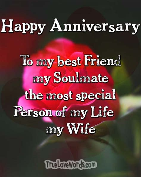 romantic wedding anniversary wishes  wife true love words