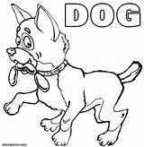 Dog Coloring Dogs Sausage Coloringway sketch template