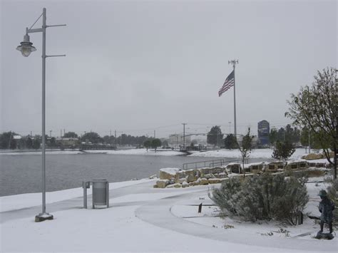 odessa tx memorial park  winter photo picture image