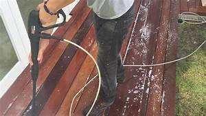 How to clean a WOOD DECK Como limpiar un Piso de Madera YouTube
