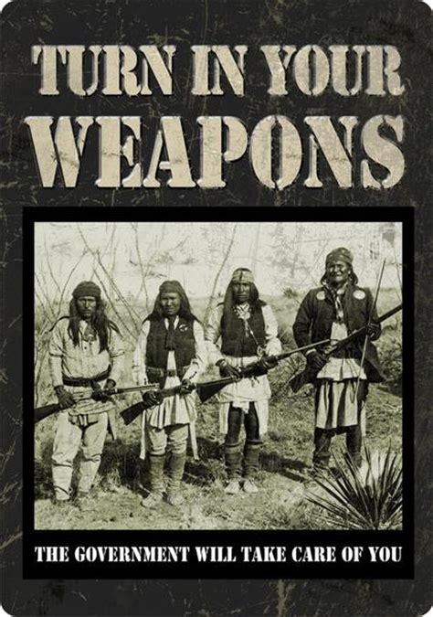 turn   weapons native americans sign  buffalo