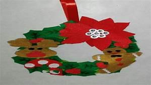 Como Hacer Coronas De Navidad Para La Puerta Corona Navide
