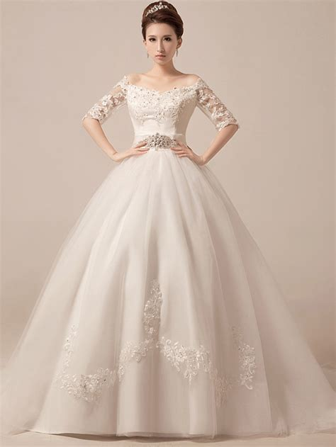 Bridal Ball Gowns Ideas With Sleeves Style Designers