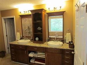kraftmaid sonata cherry harris traditional bathroom With kitchen cabinets lowes with yin yang candle holder