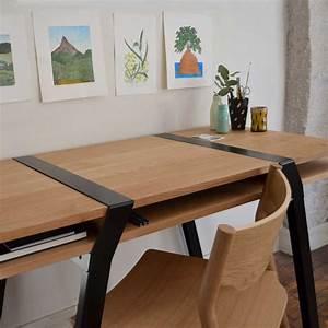 Bureau Sur Tréteaux : pi16 paire de treteaux metal pour bureau deux niveaux design r fry ~ Teatrodelosmanantiales.com Idées de Décoration