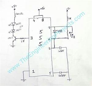circuit diagram of ir sensor using 555 timer the With ir sensor diagram